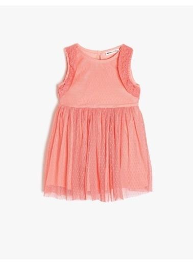 Koton Kids Dantel Detaylı Elbise Pembe
